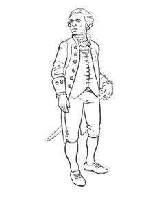 George Washington Coloring Sheet